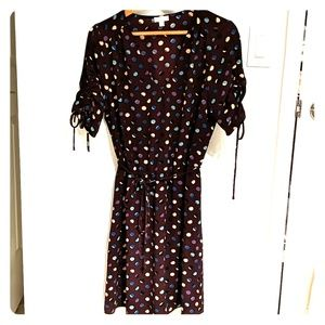 Charming Charlie maroon dress with dots